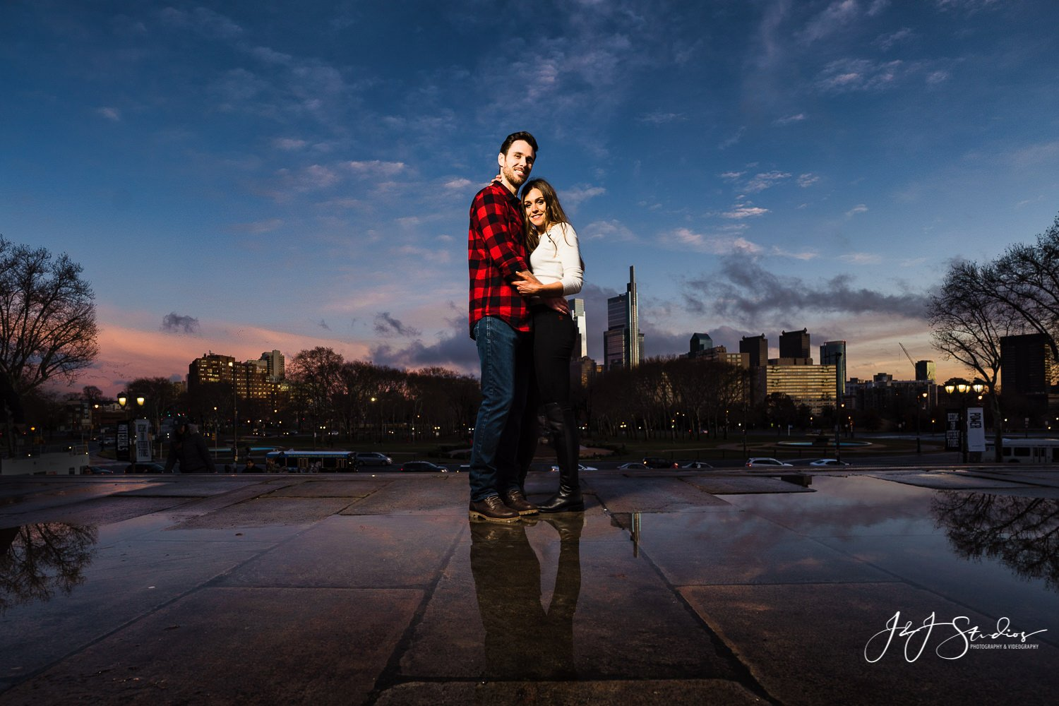 rocky steps night engagement