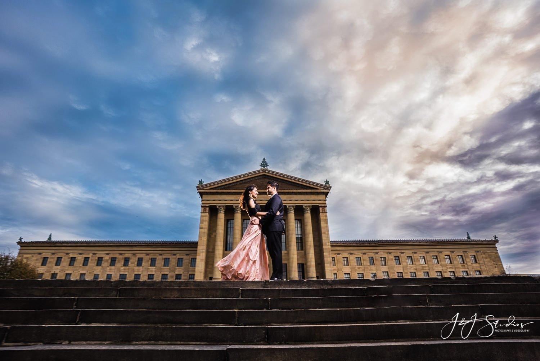 epic art museum couples portrait philly