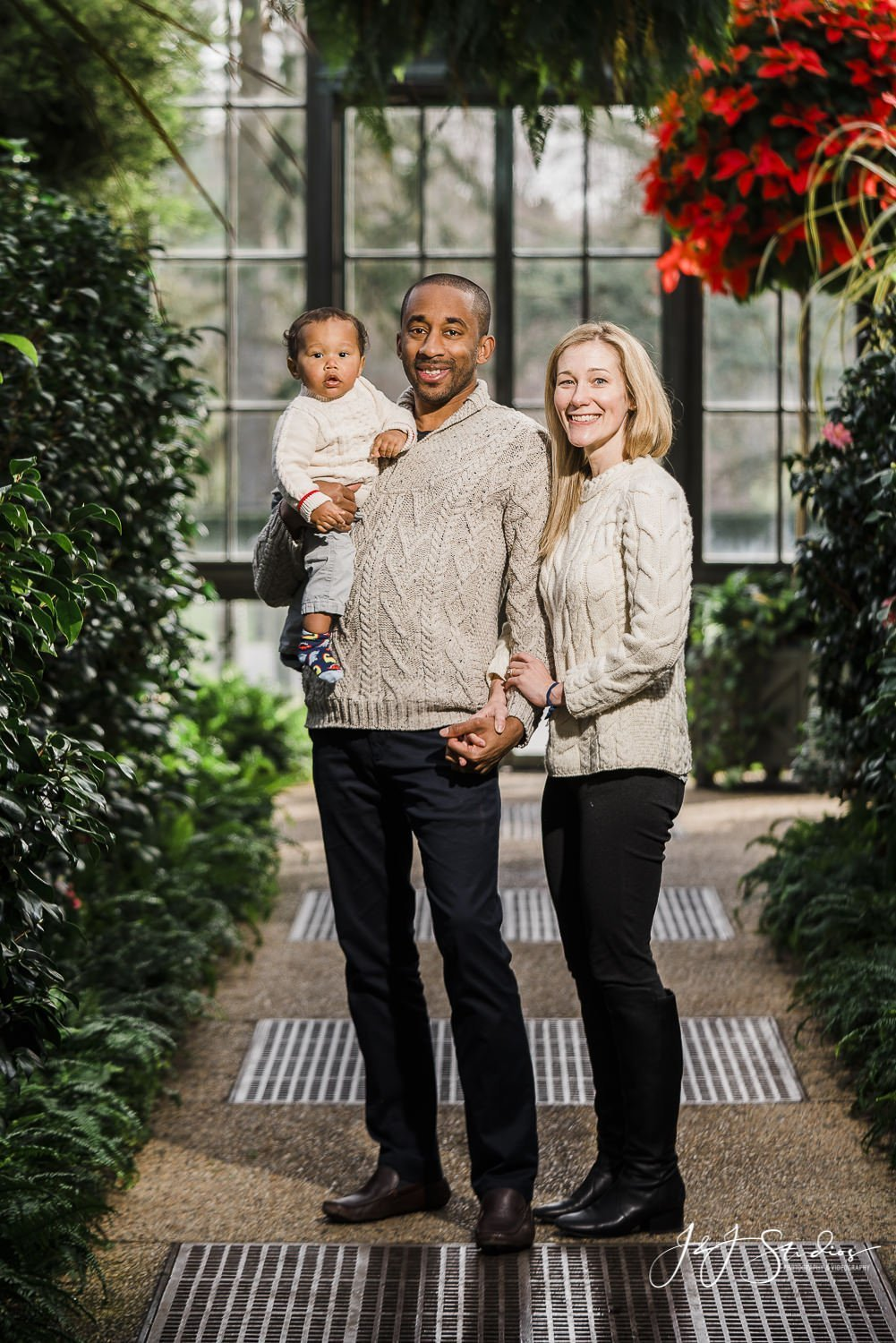 family session at longwood gardens