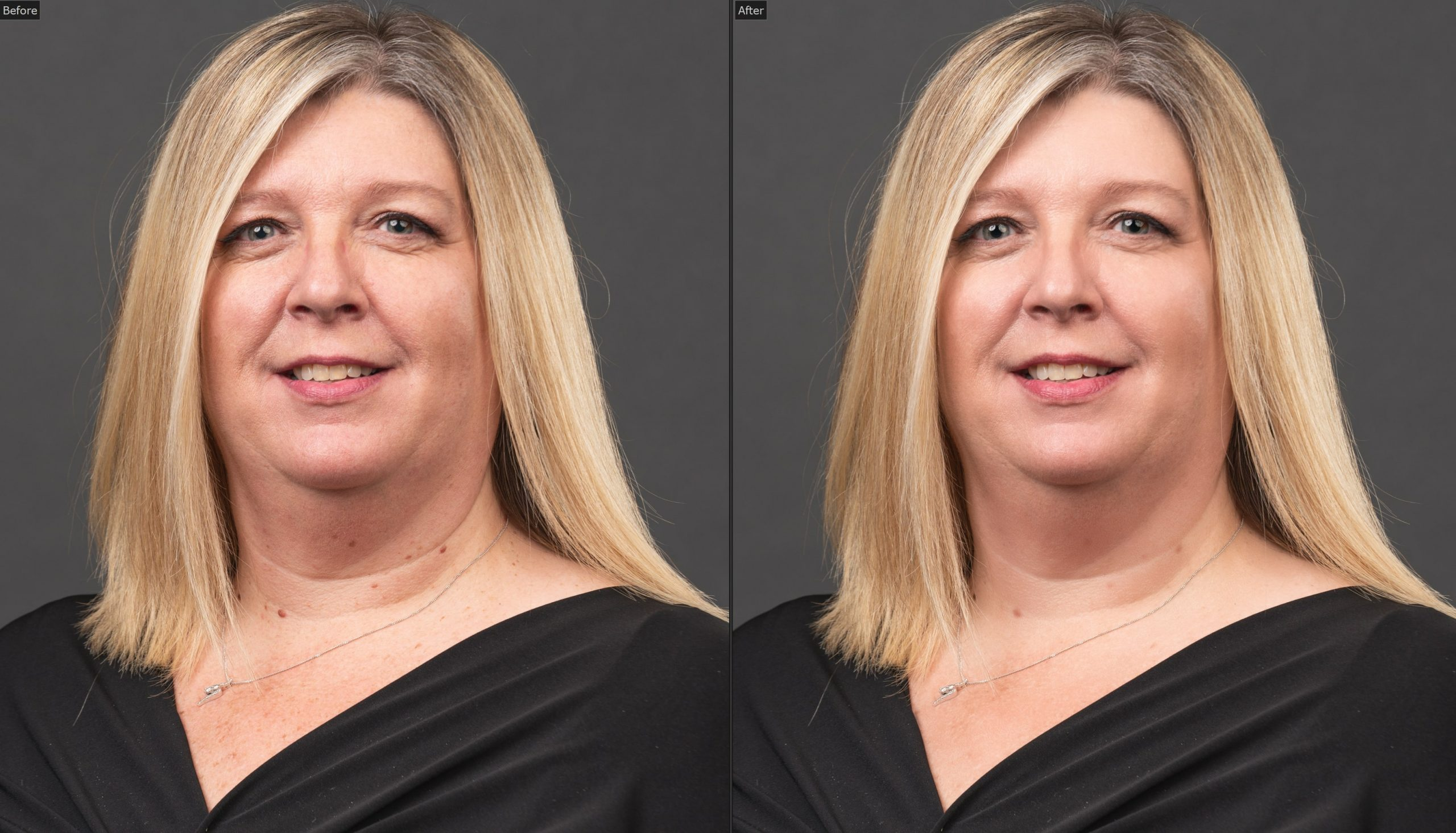 before and after retouching philadelphia corporate headshots