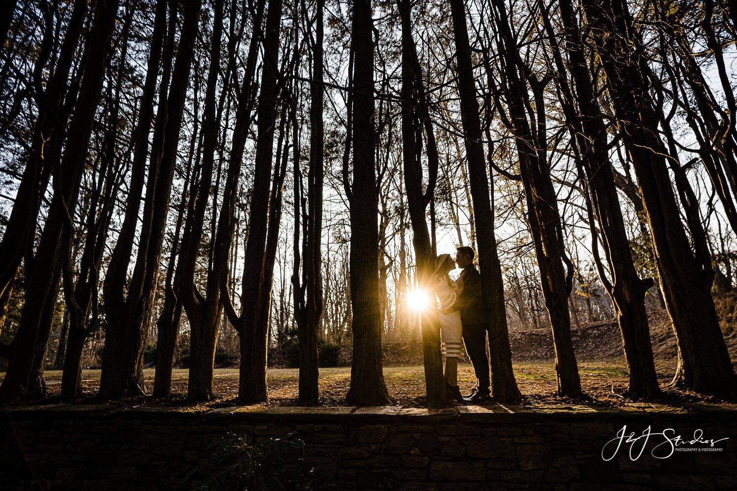 hunting hill sunset engagement