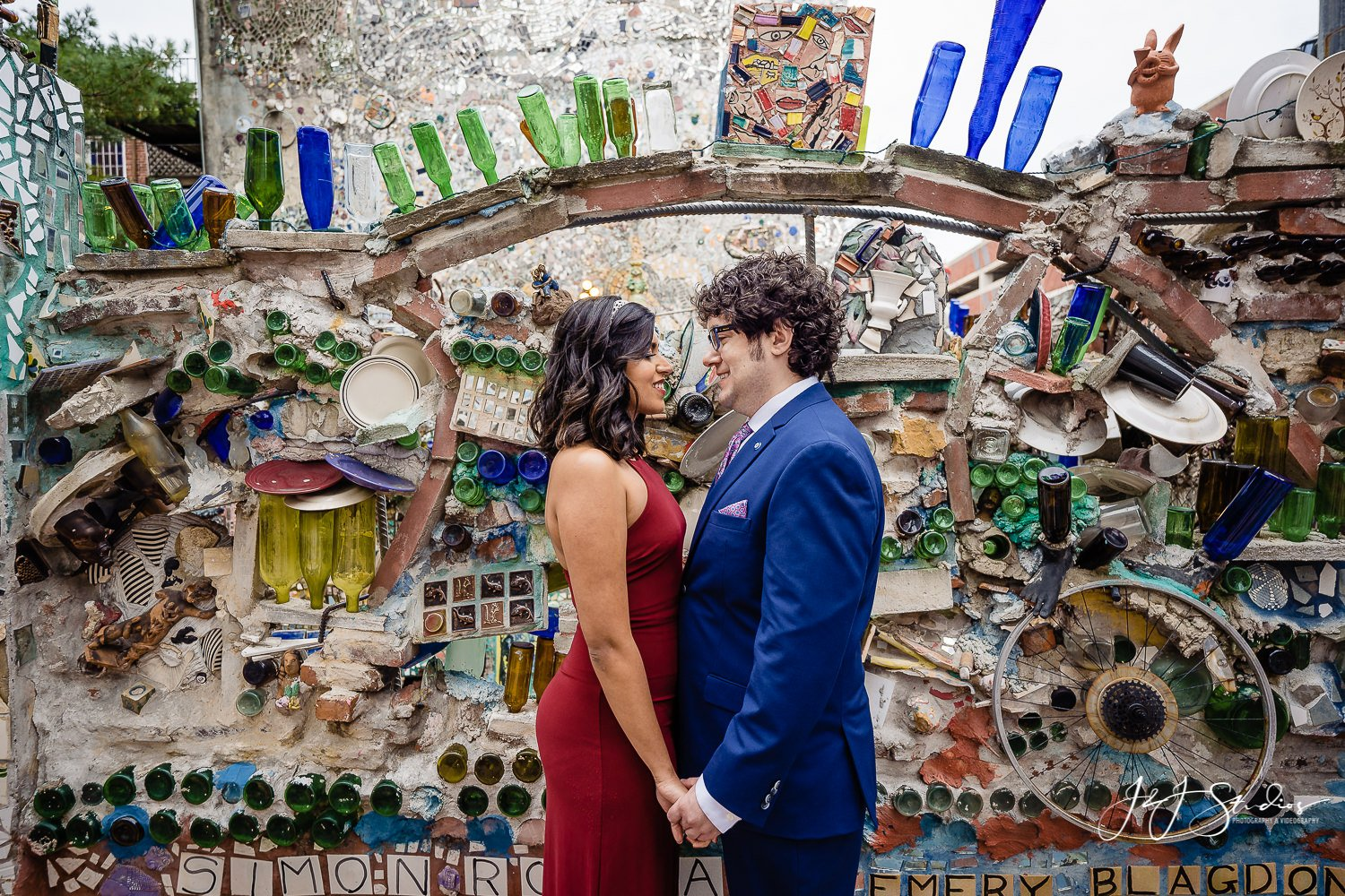 magic gardens couple shoot