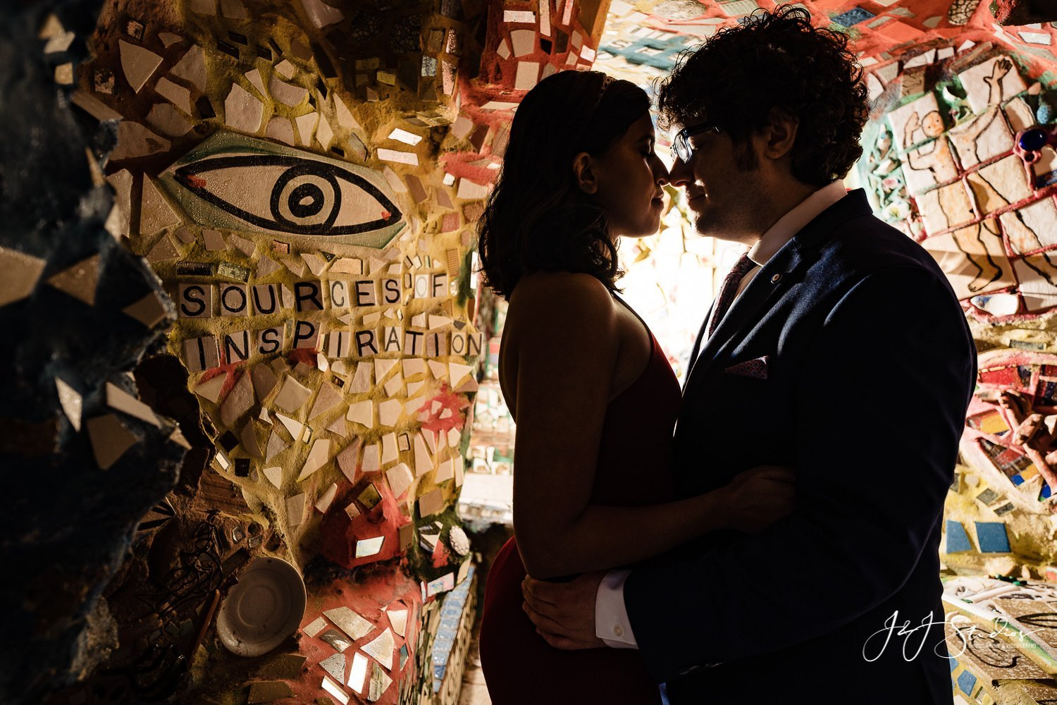 philly magic gardens engagement photos