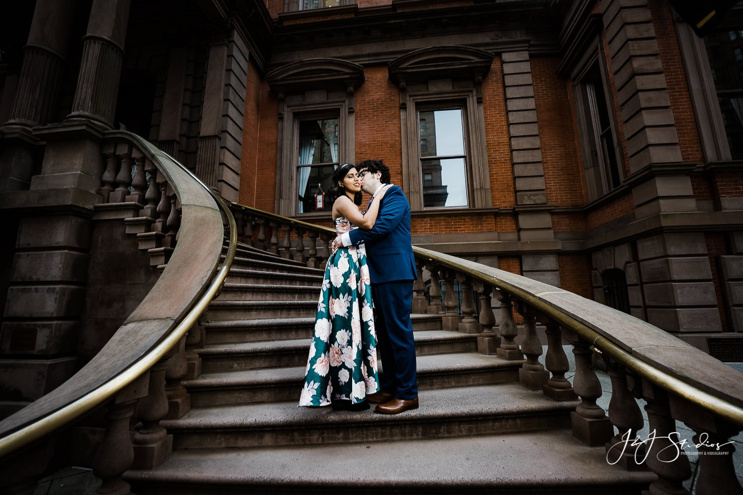 union league engagement shoot