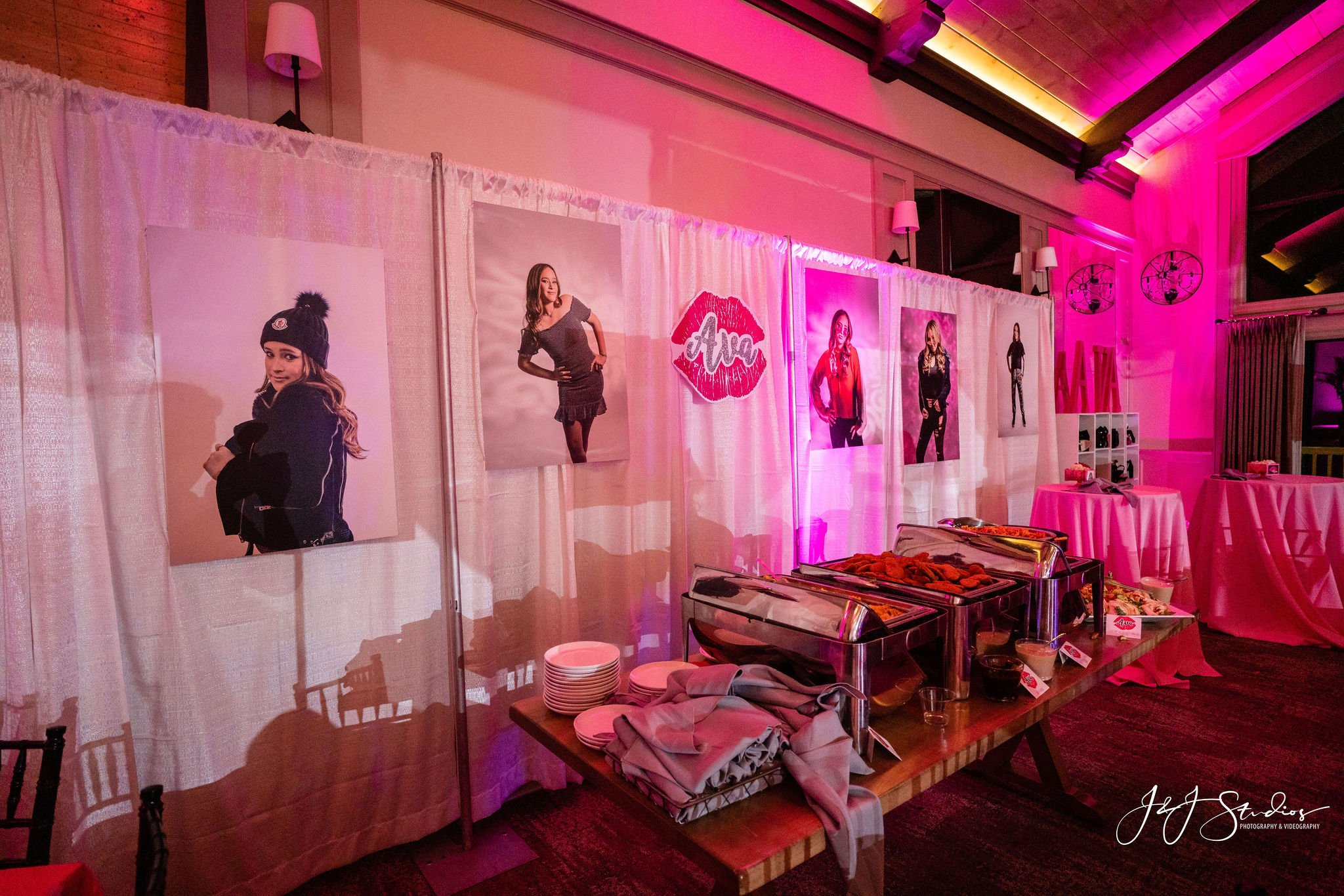 posters of bat mitzvah girl at bat mitzvah