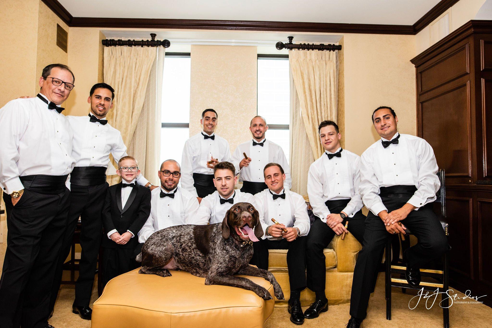 groomsmen and groom hotel dupont wedding wilmington de
