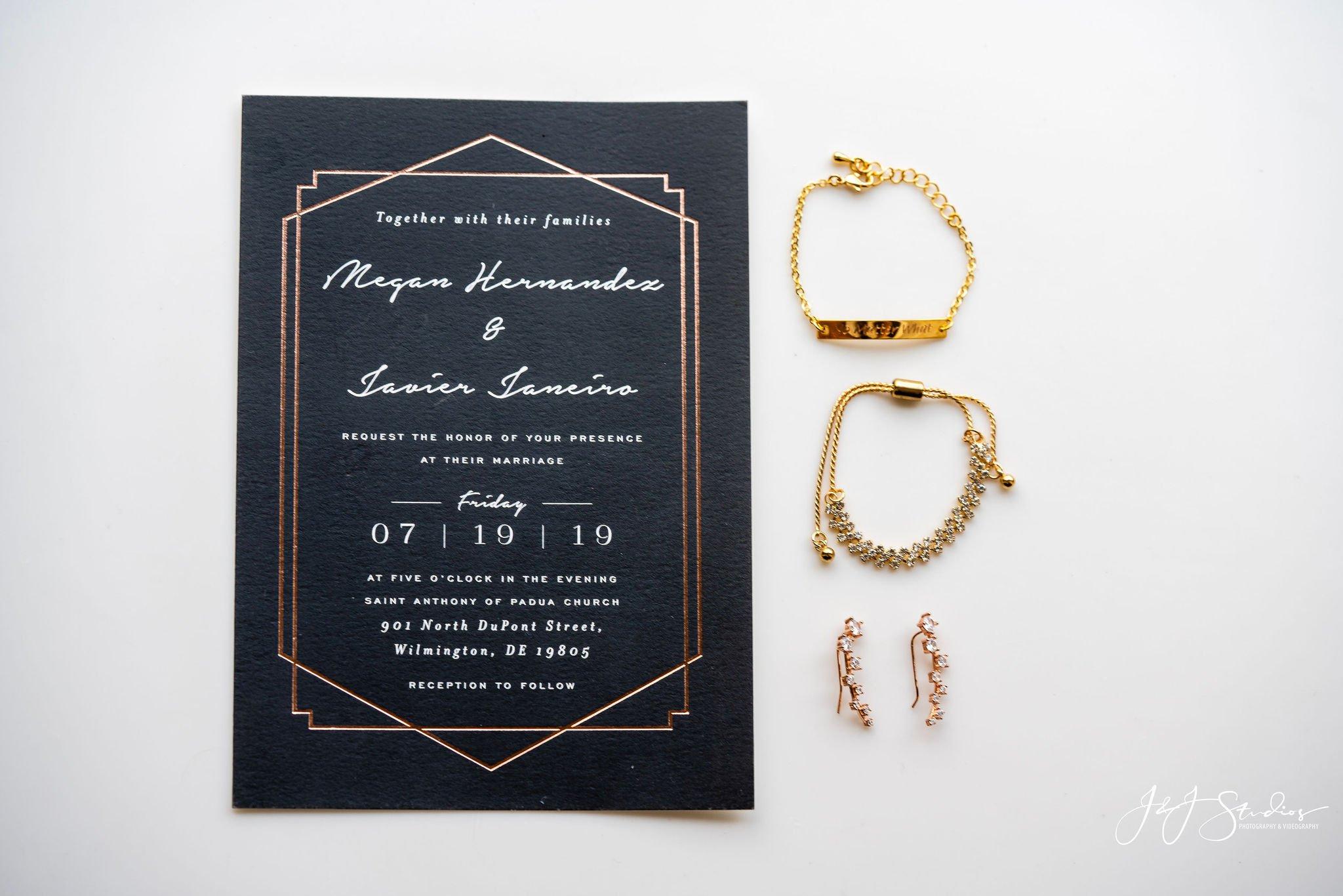 invitations hotel dupont wedding