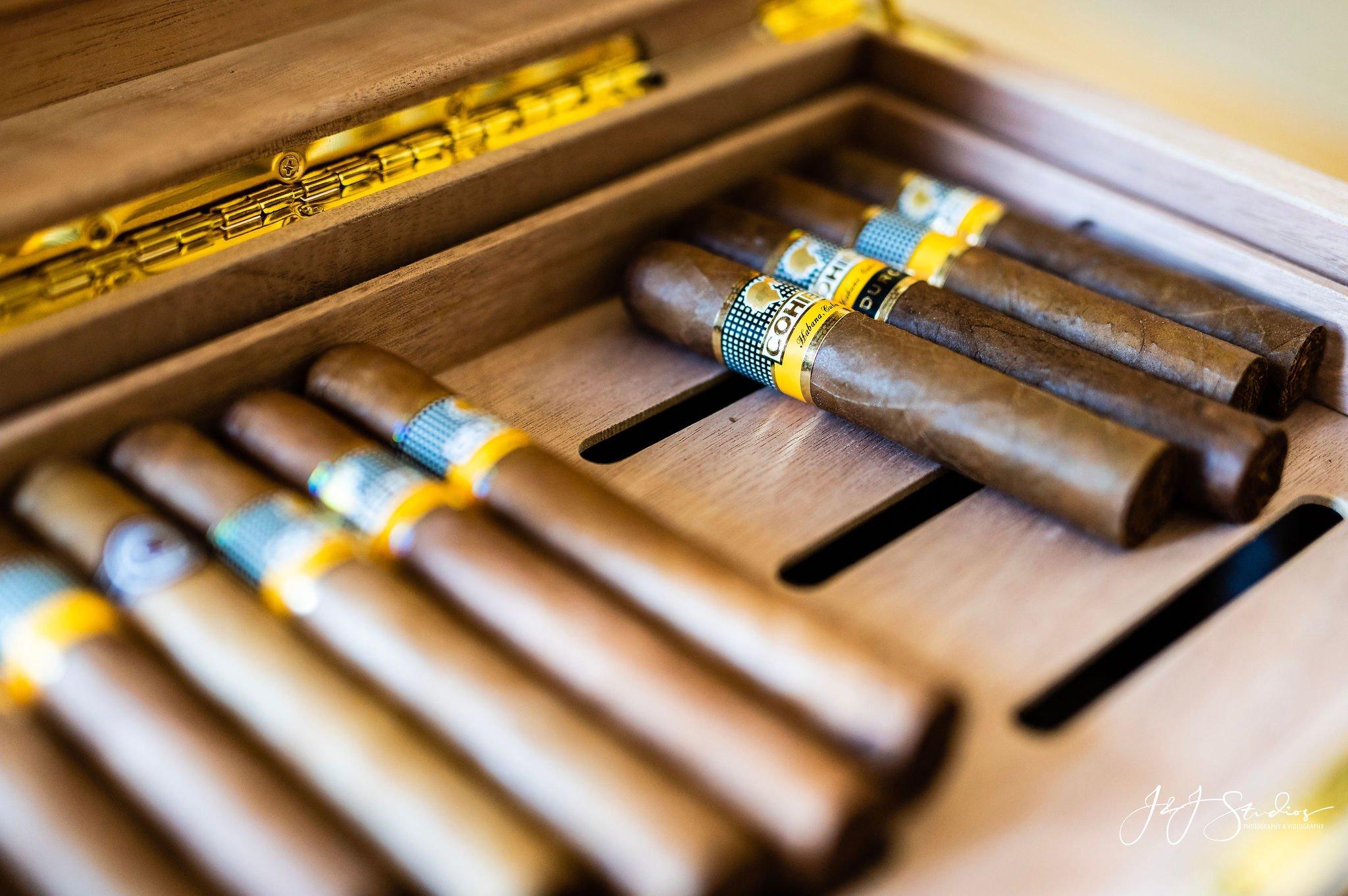 grooms cigar hotel dupont wedding