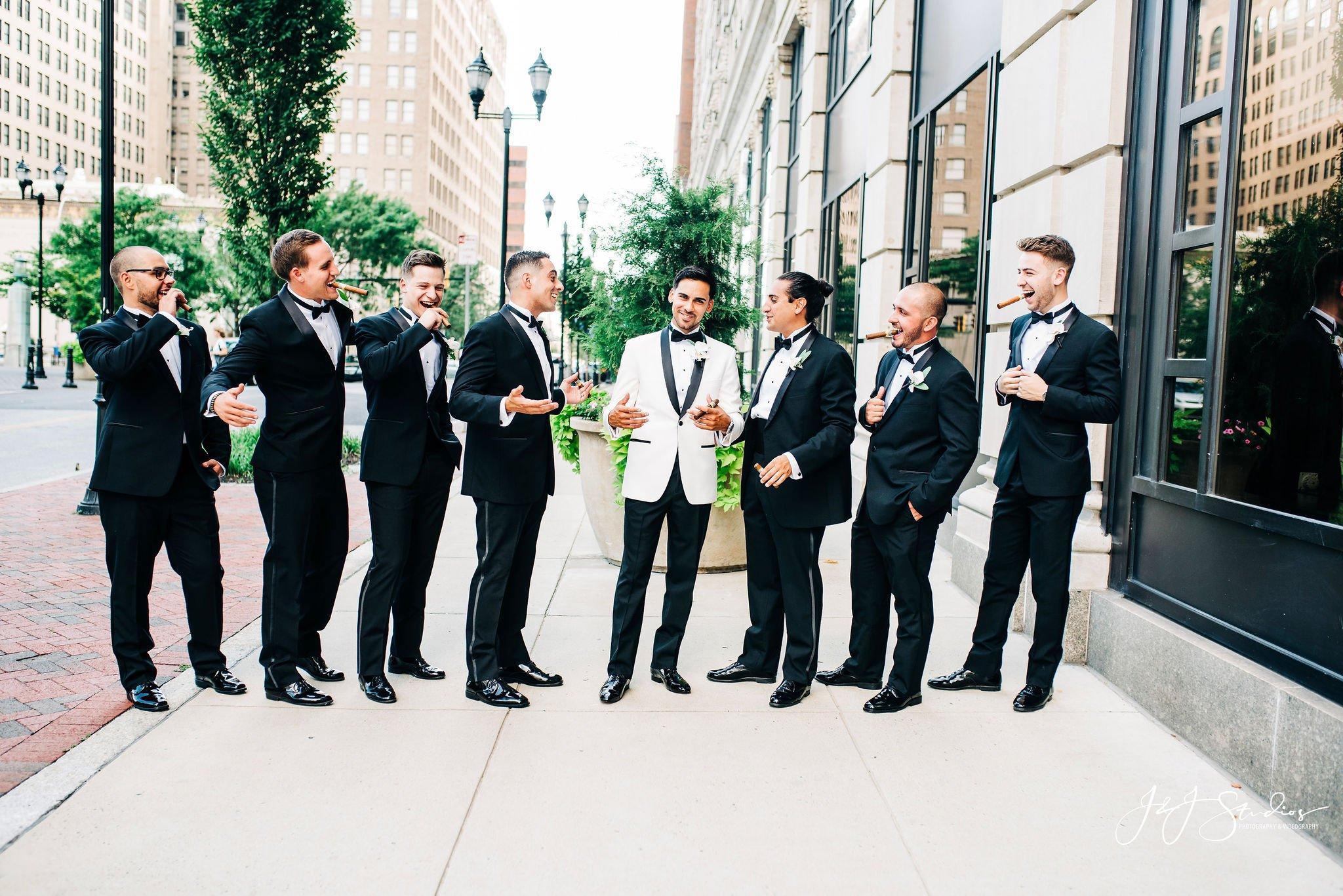hotel dupont bridal party by photographer john ryan jj studios