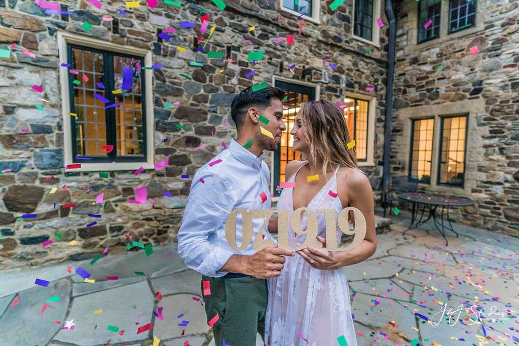 confetti engagement shoot