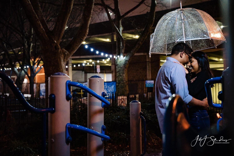 creative park engagement photos