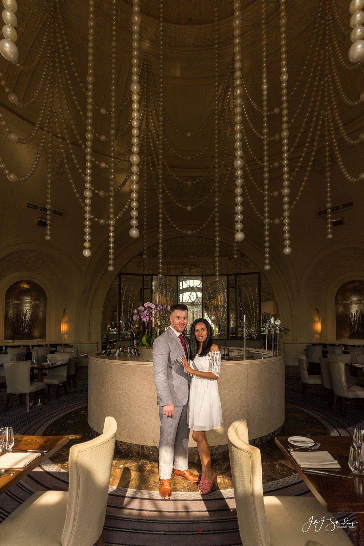nineteen restaurant engagement photos