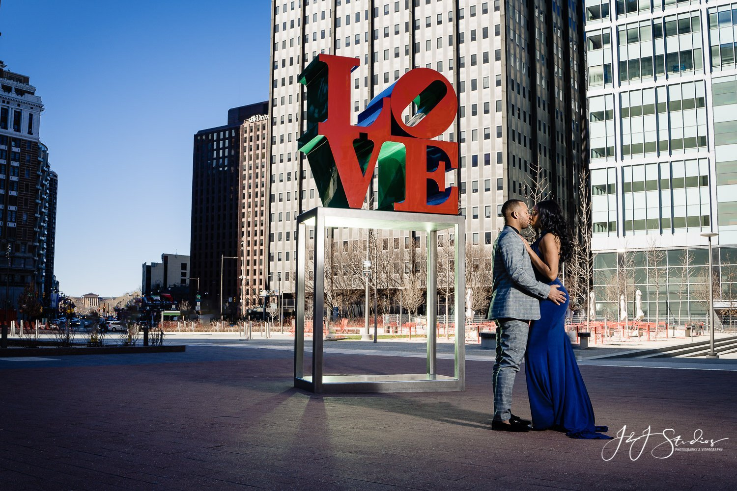 LOVE park engagement shoot