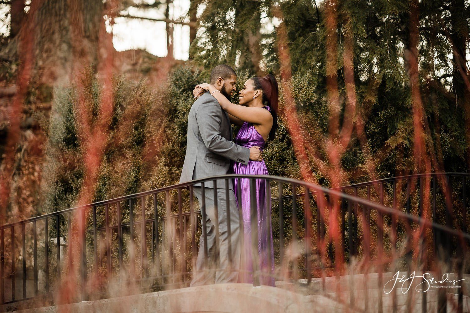 longwood gardens spring engagement session