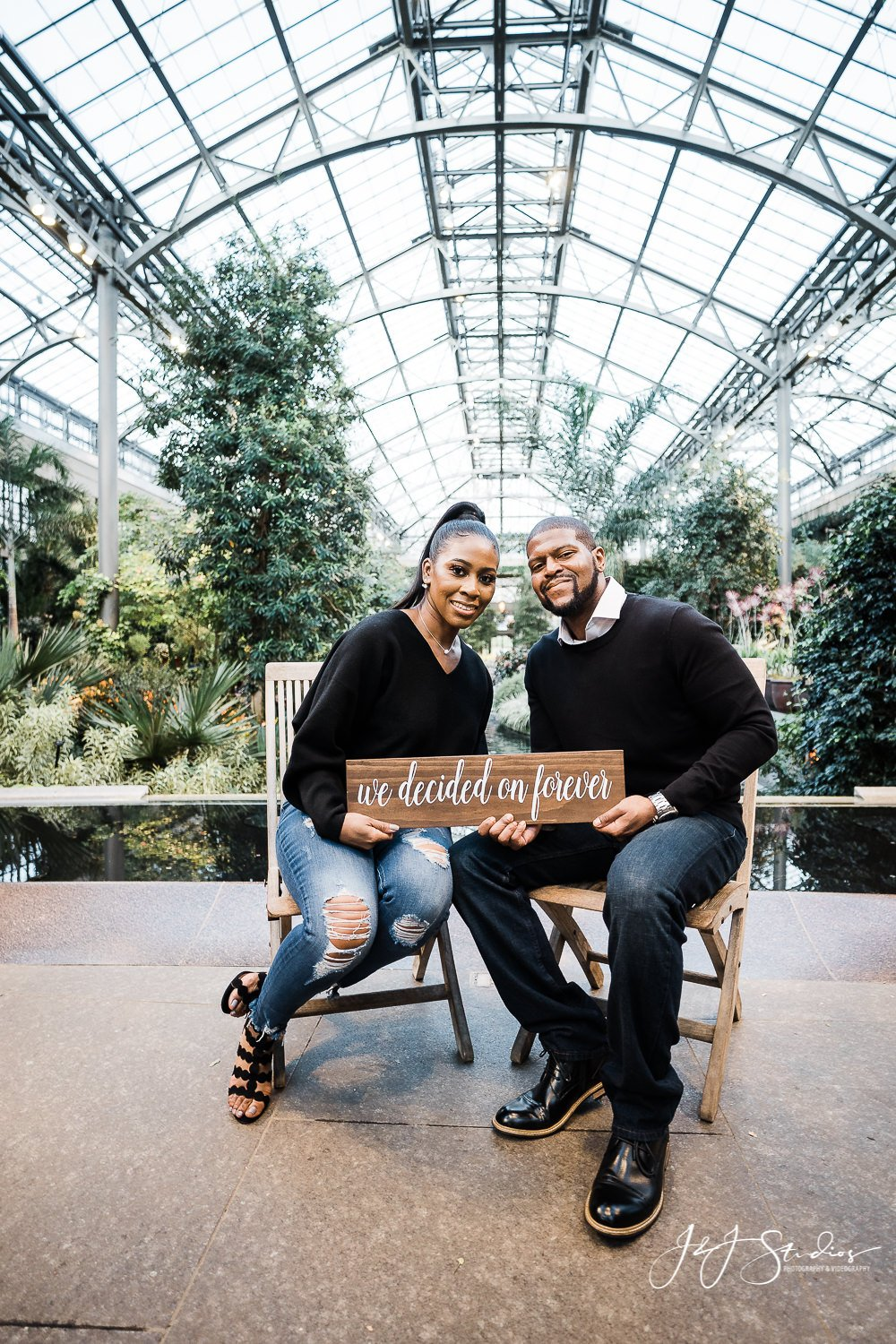 Longwood Gardens Engagement Photography || Brittney and Dwayne