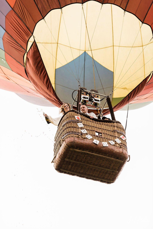 US Hot air balloon team engagement photos new hope pa