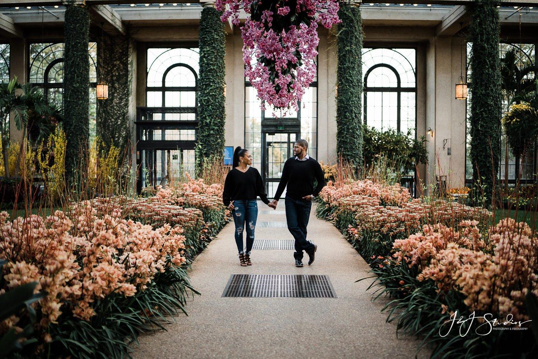 best longwood gardens engagement photographer