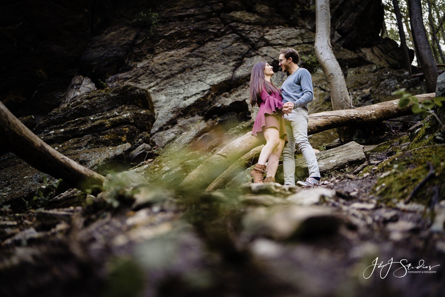 Wissahickon Creek engagement taylor and danny
