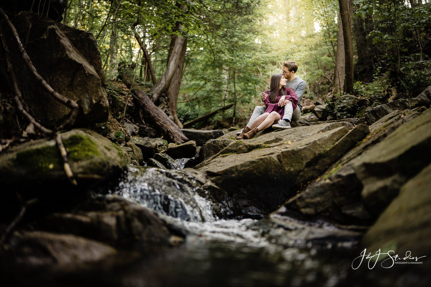 Wissahhickon Creek Engagement Session Taylor and Danny