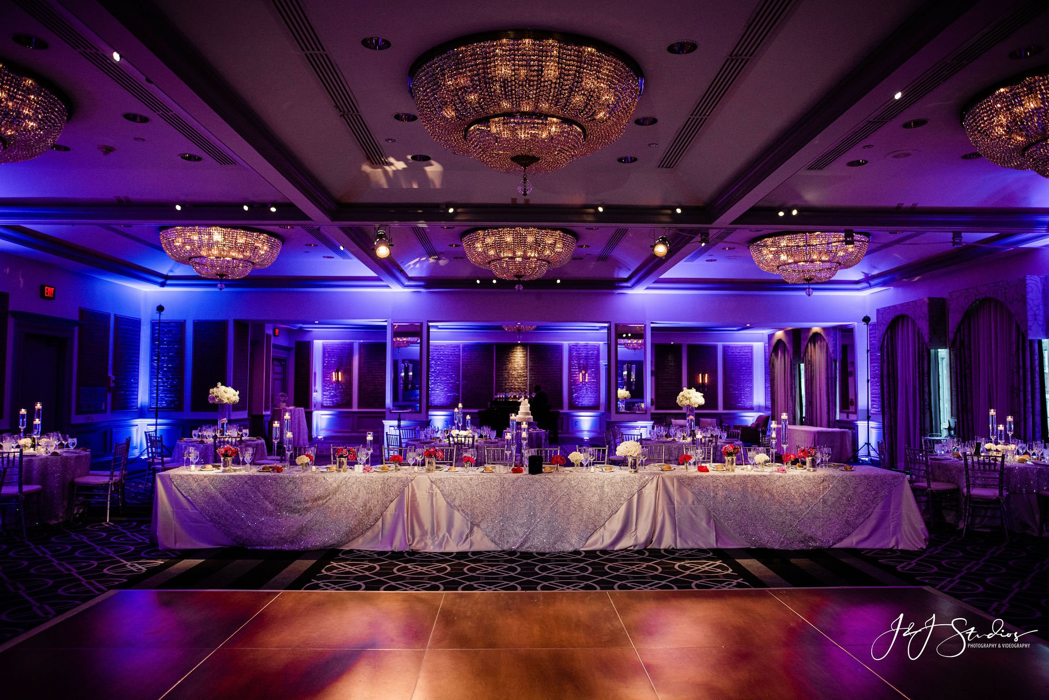 A table setup for a wedding at the Rittenhouse Hotel Venue in Philadelphia