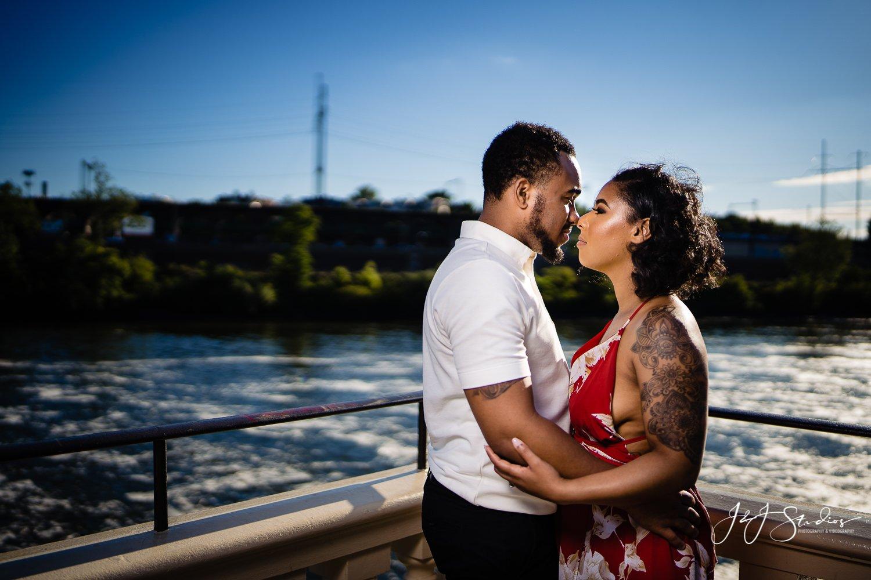Schuylkill River engagement photos