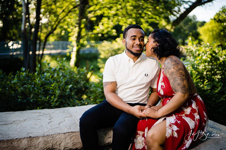 cute black couple engagement
