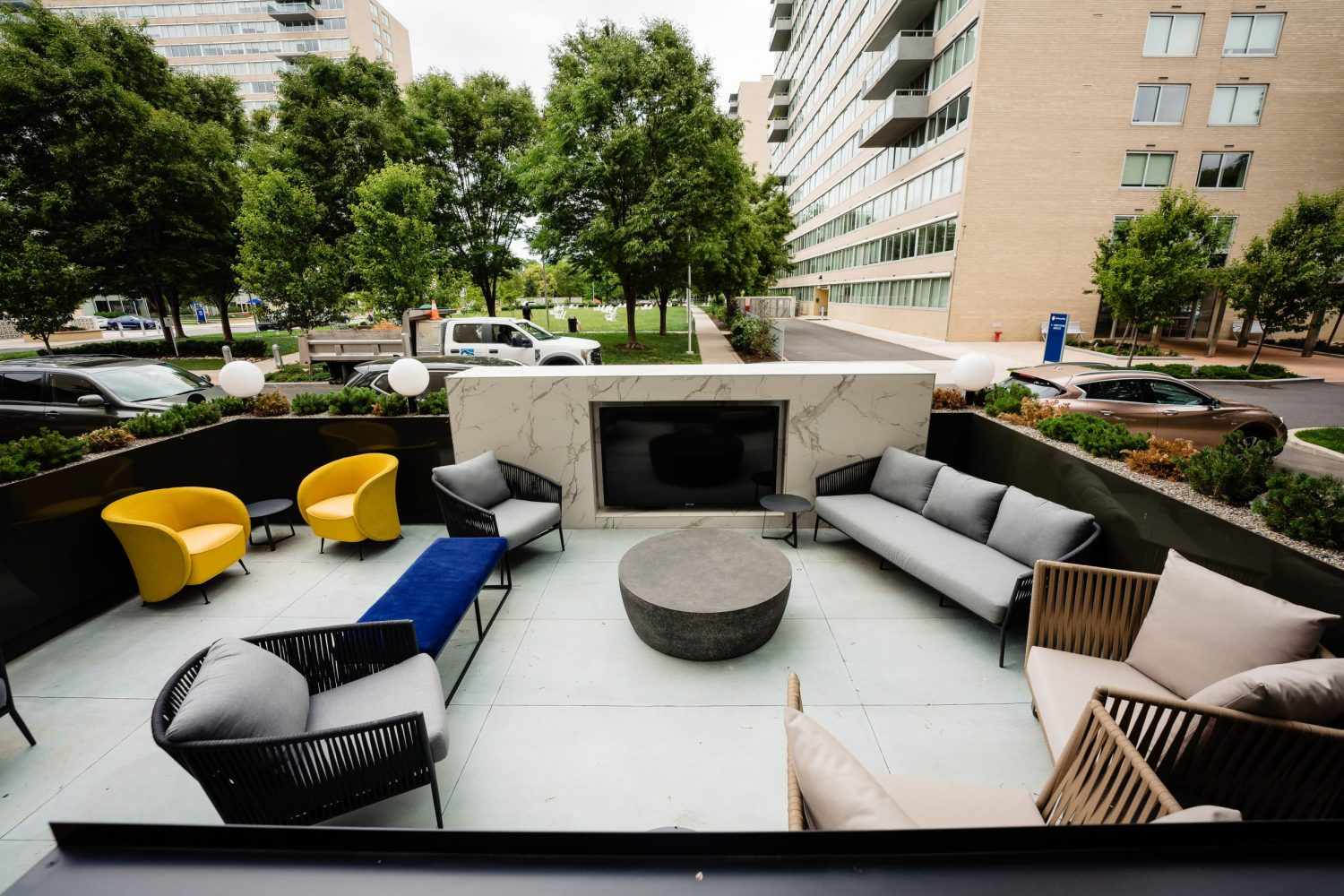 Patio furniture outside in Philly
