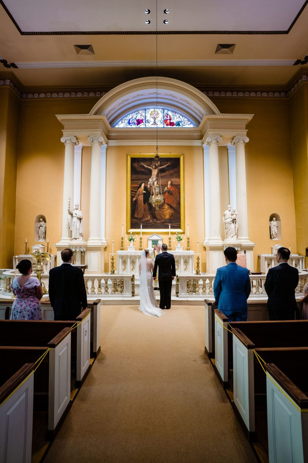 Old Saint Josephs Church Philly PA wedding ceremony