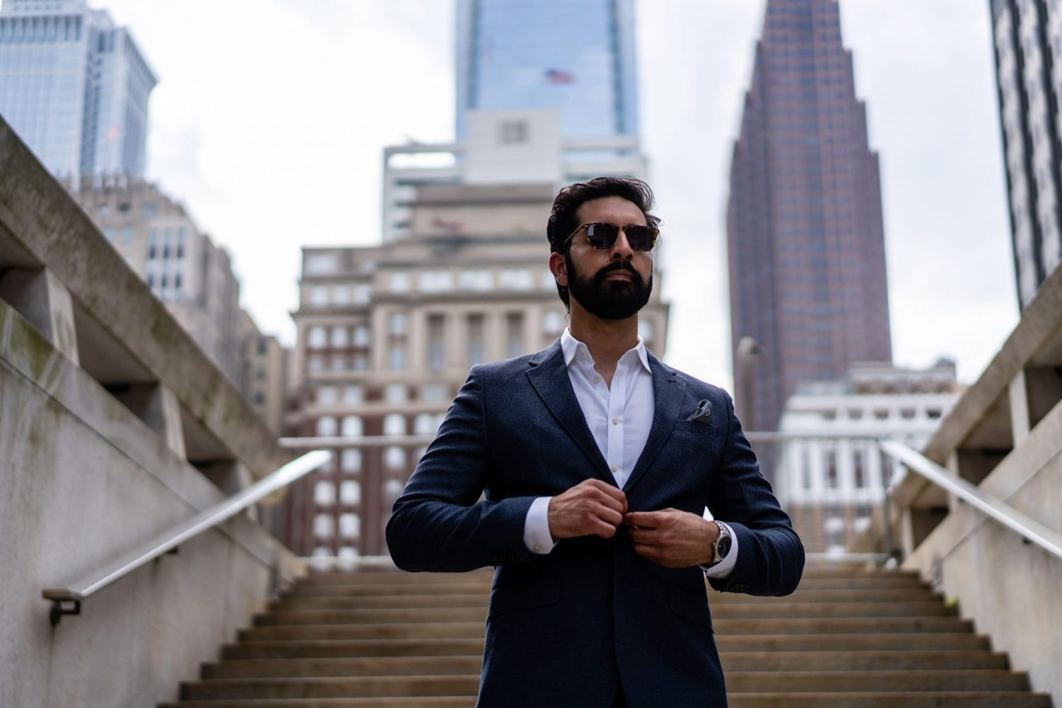Commerical model in philly male wearing sunglasses
