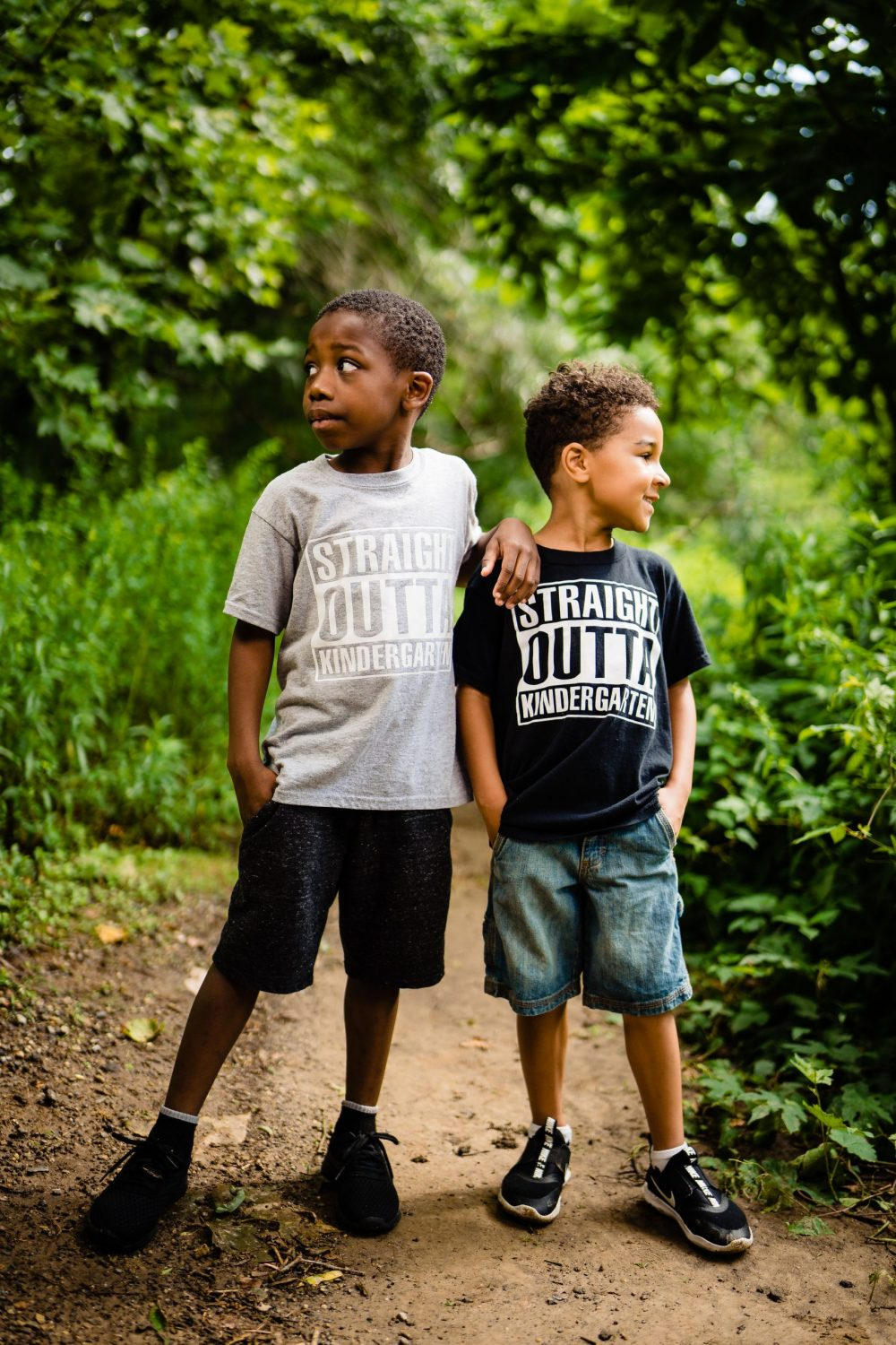 2 young boys in custom shirts